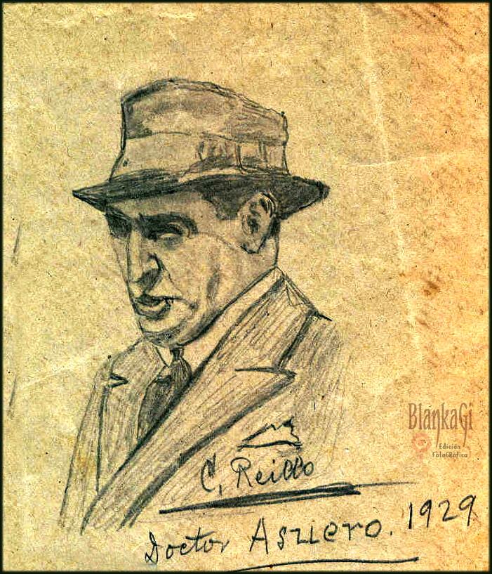 Carlos Reillo. Retrato del Dr Asuero 1929. Archivos de familia. Blanca Giménez Reillo