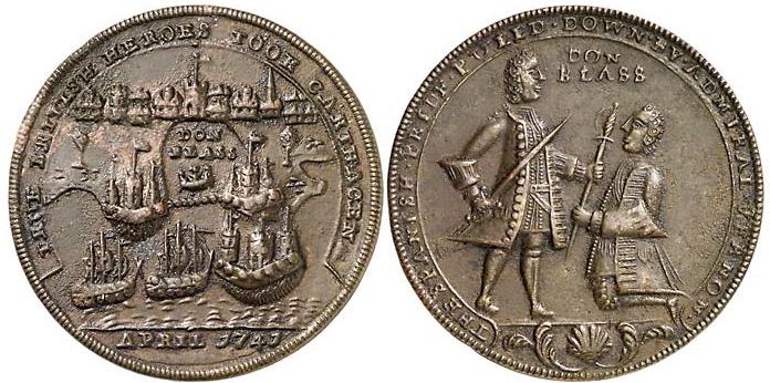 Medalla Vernon 1741 Cartagena de Indias